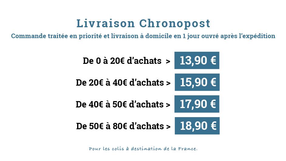 Tableau Frais Port Chronopost